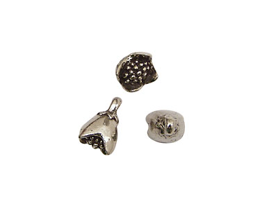 Green Girl Pewter Bell Drop 9x16mm