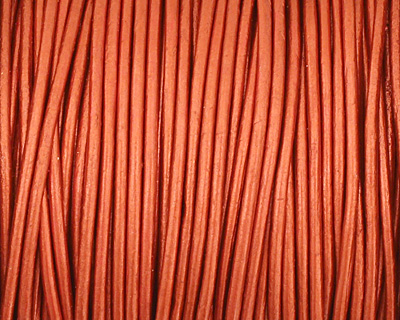 Moroccan Red (metallic) Round Leather Cord 1.5mm