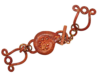 Patricia Healey Copper 3 Strand Nautilus Toggle 127x26mm, 23mm bar