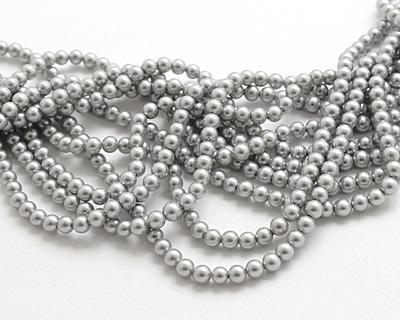 Platinum Shell Pearl Round 4mm