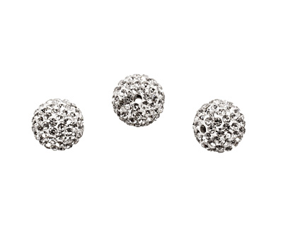 Crystal Pave Round 12mm (1.5mm hole)