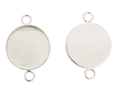 Silver (plated) Circle Bezel Link 29mm