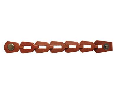 Brown Leather Chain Cuff 1