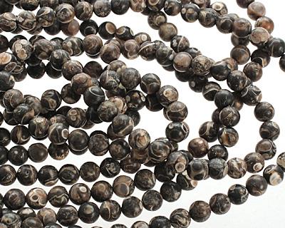 Turritella Agate (matte) Round 5-6mm