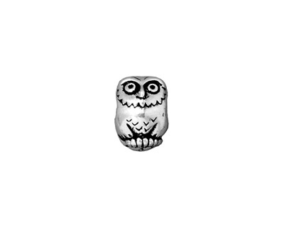 TierraCast Antique Silver (plated) Owl Euro 8x12mm
