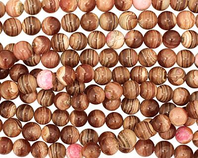 Brown Rhodochrosite Round 12mm