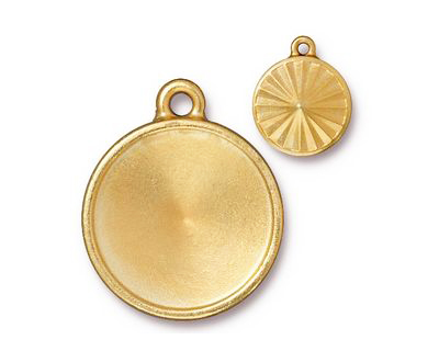 TierraCast Gold (plated) Faceted Drop 21x25mm