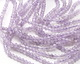 Lavender Amethyst (AA) Diamond Cut Faceted Round 3-3.5mm