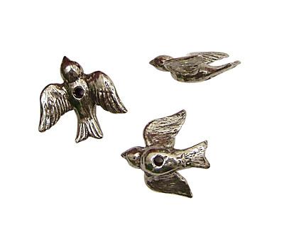 Green Girl Pewter Flying Bird 21mm