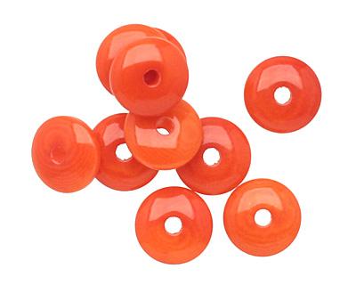 Tagua Nut Orange Rondelle 3x8mm
