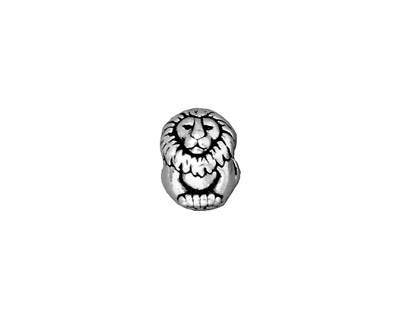 TierraCast Antique Silver (plated) Lion Euro 9x11mm