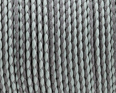 Light Grey & Seafoam Braided Cotton Bolo Cord 2mm