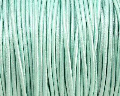 Oasis Turquoise (metallic) Round Leather Cord 2mm
