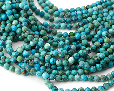 Chinese Turquoise Faceted Round 4mm