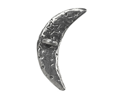 Green Girl Pewter Crescent Button 31x15mm