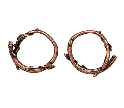 Ezel Findings Antique Copper Branch Wreath Link 24x21mm