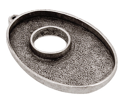 Nunn Design Antique Silver (plated) Grande Oval Bezel Toggle 43x28mm
