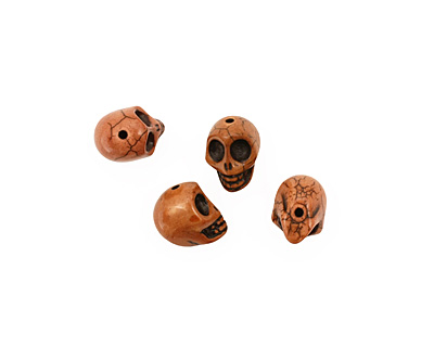 Brown Magnesite Skull 17-18x14mm