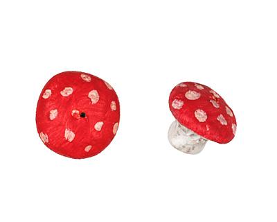 Humble Beads Polymer Clay Mushroom 12x15mm