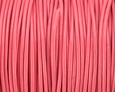 Pink Round Leather Cord 1.5mm
