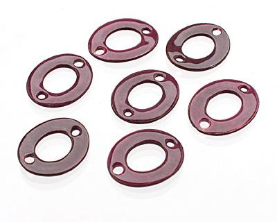 C-Koop Enameled Metal Dark Pink Small Oval Link 18-20x15-16mm