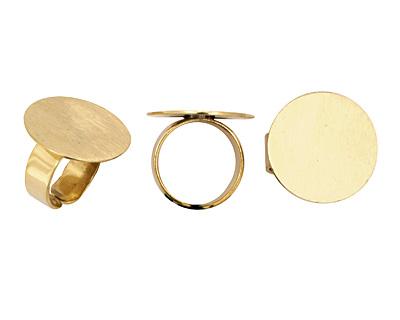 Brass Adjustable Circle Ring 24mm