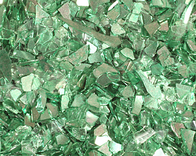 Peridot Vintage Glass Glitter (Shards) 1 oz.
