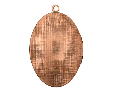 Antique Copper (plated) Oval Ornate Heirloom Locket 27x37mm