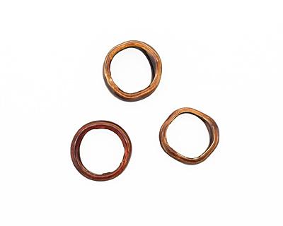 C-Koop Enameled Metal Wisteria Purple Large Ring 16-17mm