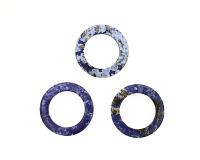 Lapis Drilled Donut 30mm