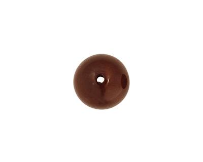Tagua Nut Dark Brown Round 20mm