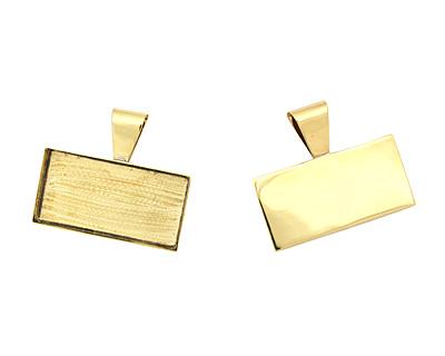 Brass Rectangle Bezel 43x22mm