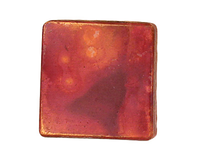 Patricia Healey Copper 2 Hole Quilted Square 20mm