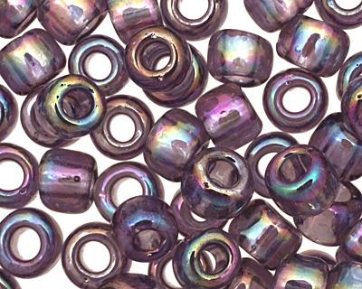 TOHO Transparent Rainbow Sugar Plum Round 6/0 Seed Bead