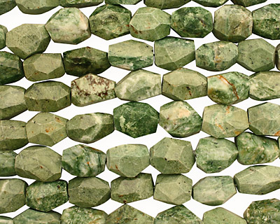 Green African Opal Faceted Nugget 18-22x13-20mm