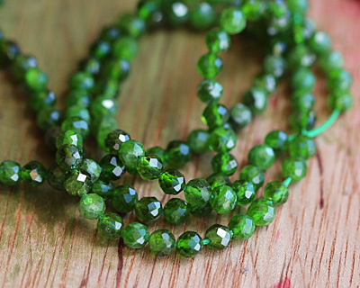 Chrome Diopside Faceted Round 4mm