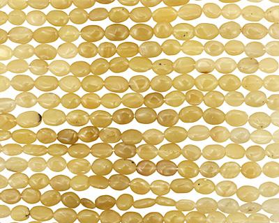Yellow Opal Irregular Flat Oval 7-8x5-6mm