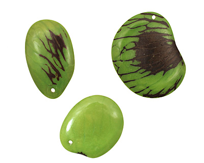 Tagua Nut Apple Groovy Slice 25-35x30-42mm
