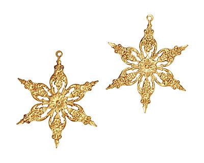 Brass Poinsettia Filigree 42x51mm