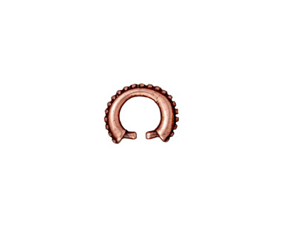 TierraCast Antique Copper (plated) Small Beaded Pinch Bail 2x10mm