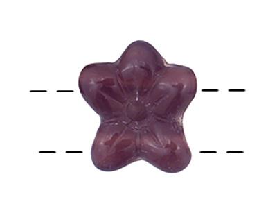 Czech Glass Amethyst 2-Hole Flower 11x13mm