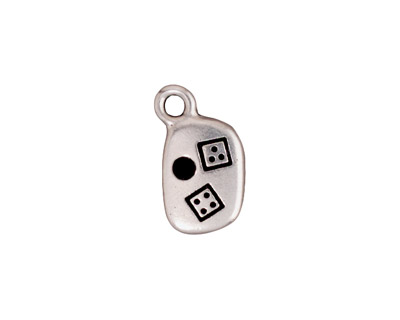 TierraCast Antique Silver (plated) Lucky Charm w/ Glue In 10x17mm