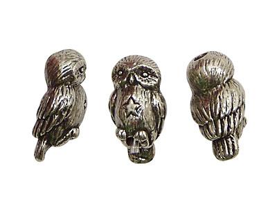 Green Girl Pewter Owl 22x10mm