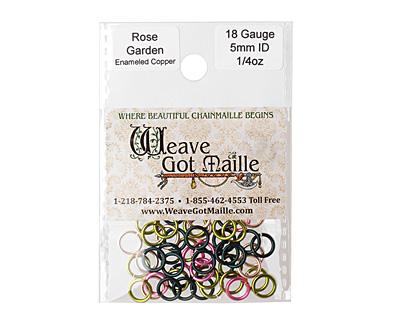Rose Garden Mix Enameled Copper Round Jump Ring 7mm, 18 gauge