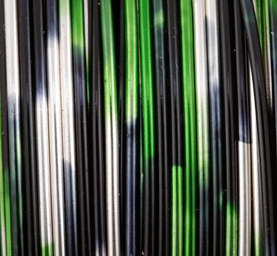 Artistic Wire MultiColor Silver/Black/Green 22 Gauge, 6 Yards
