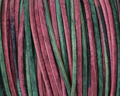 Natural Watermelon Leather Cord 2mm