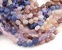Multi Stone (Amethyst, Rose Quartz, Strawberry Quartz, Dumortierite) Tumbled Nugget 8-11mm