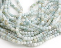 Black Gold Amazonite (matte-light) Round 6mm