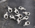 Silver (plated) Lobster Clasp 5x9mm