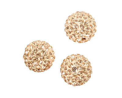 Silk Pave Round 12mm (1.5mm hole)